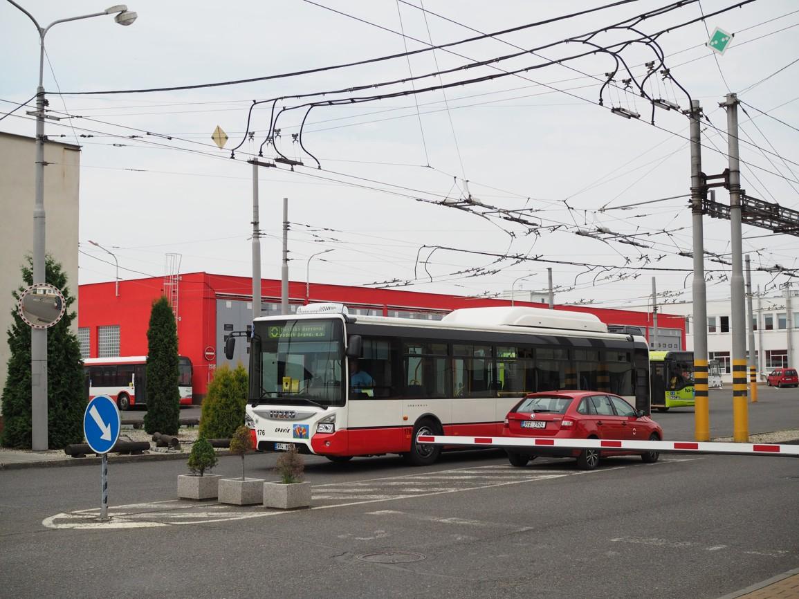 Areál městského dopravního podniku Opava