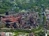 Letecký snímek Třineckých železáren
