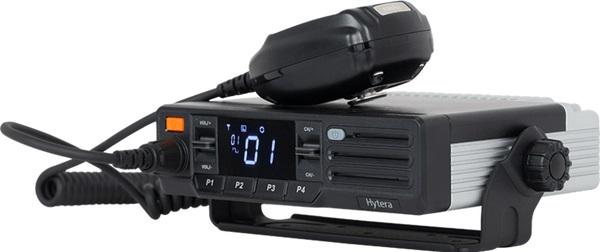 Vozidlová vysílačka Hytera MD615 může být vybavena GPS i Bluetooth