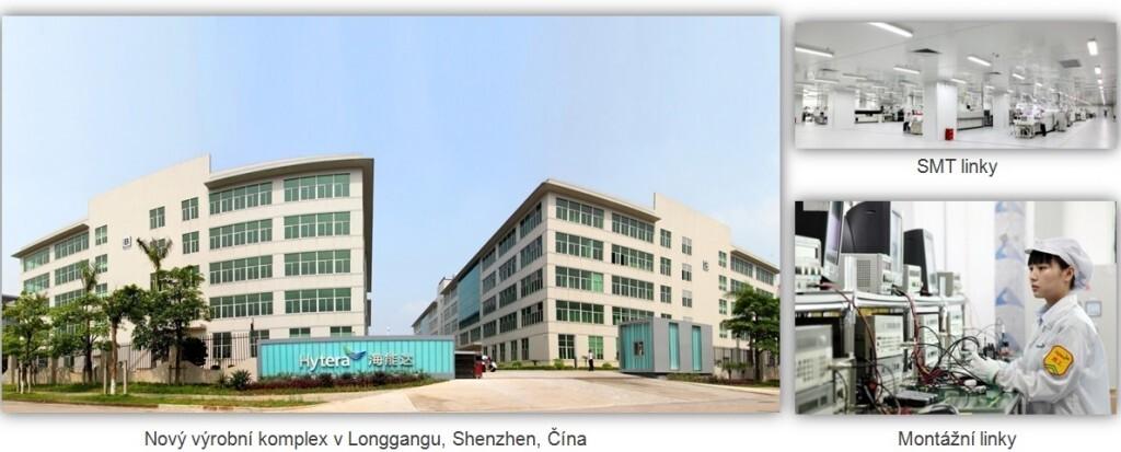 Továrna společnosti Hytera v Shenzhenu