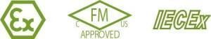 Bezpečnostní certifikáty ATEXT, FM a IECEx