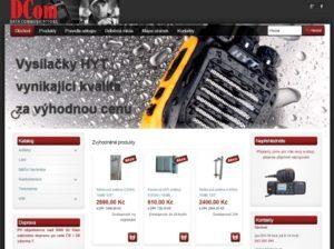 Nový internetový obchod společnosti DCom, spol. s r.o.