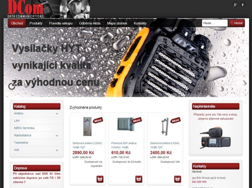 Nový e-shop v provozu - radiostanice (vysílačky) Hyt, Hytera, Motorola