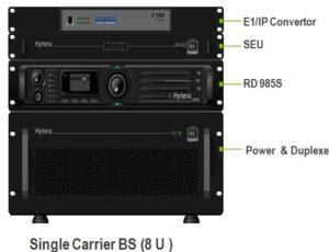 Základnová stanice (převaděč) Hytera DS-6310 pro simulcast digitální radiové sítě