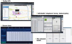 Aplikace pro trunkové systémy Hytera