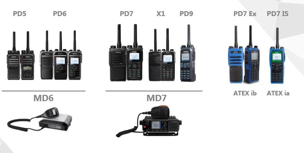 Hytera radiostanice pro systém XPT