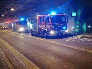Profesionální hasiči v akci