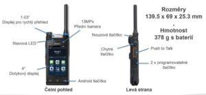 Ergonomické řešení multi-režimové LTE / DMR / TETRA radiostanice Hytera