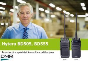Digitální vysílačky Hytera BD505 a BD555 se představují