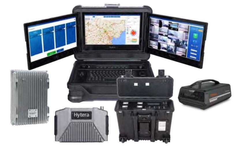 Komponenty Ad Hoc radiokomunikačního systému ES-100, zajistí nezávislou komunikaci pro mimořádné události a blackout.