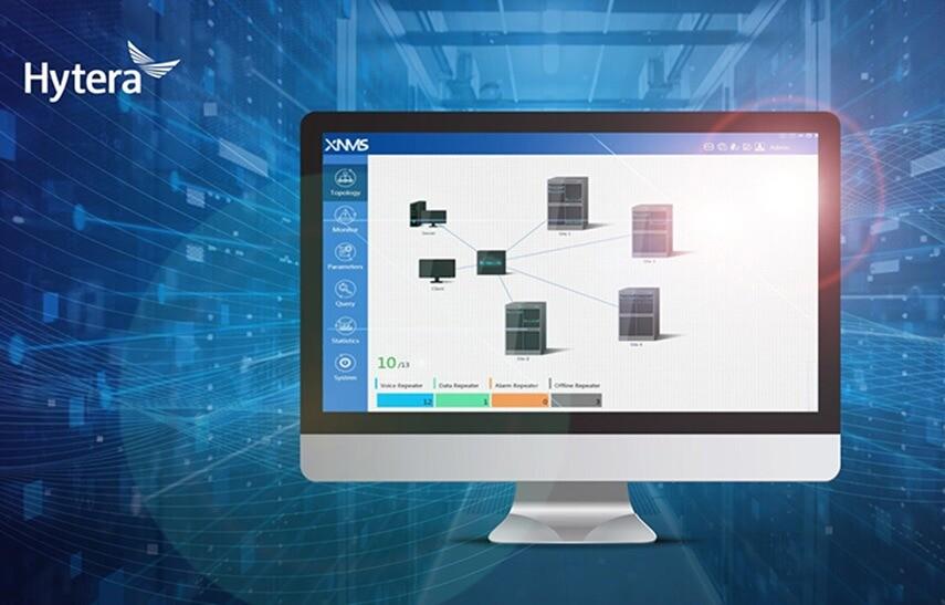 Modulární správa radiové sítě Hytera NMS umožňuje dálkově konfigurovat radiostanice přes funkci OTAP