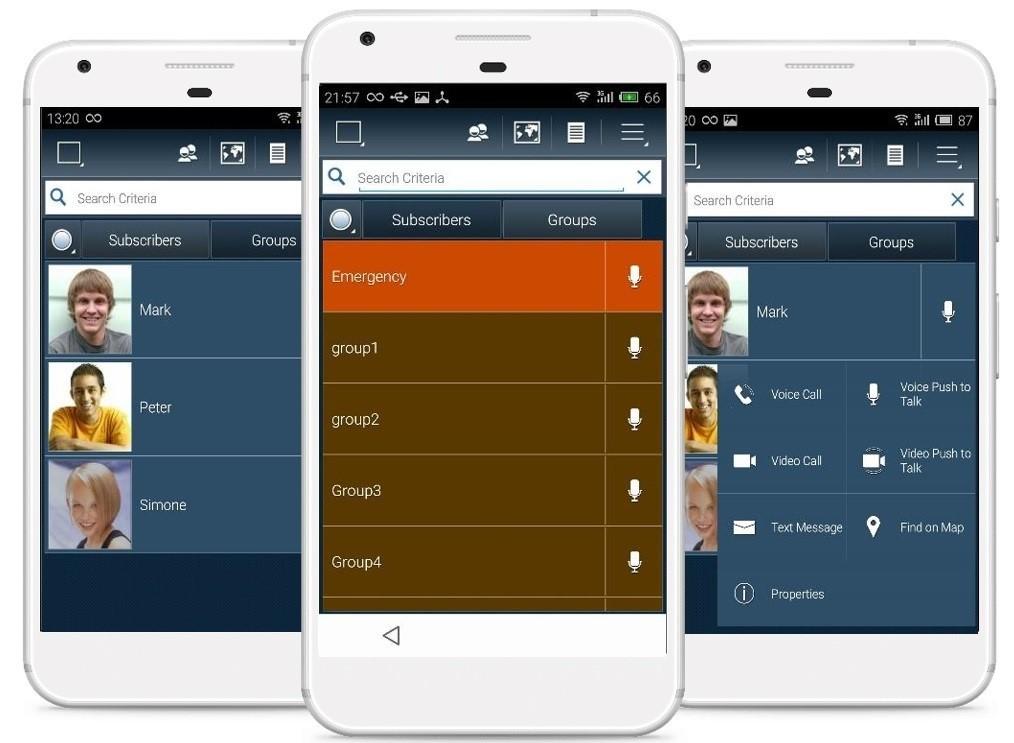 Aplikace Walkie pro chytré mobilní telefony a LTE vysílačky