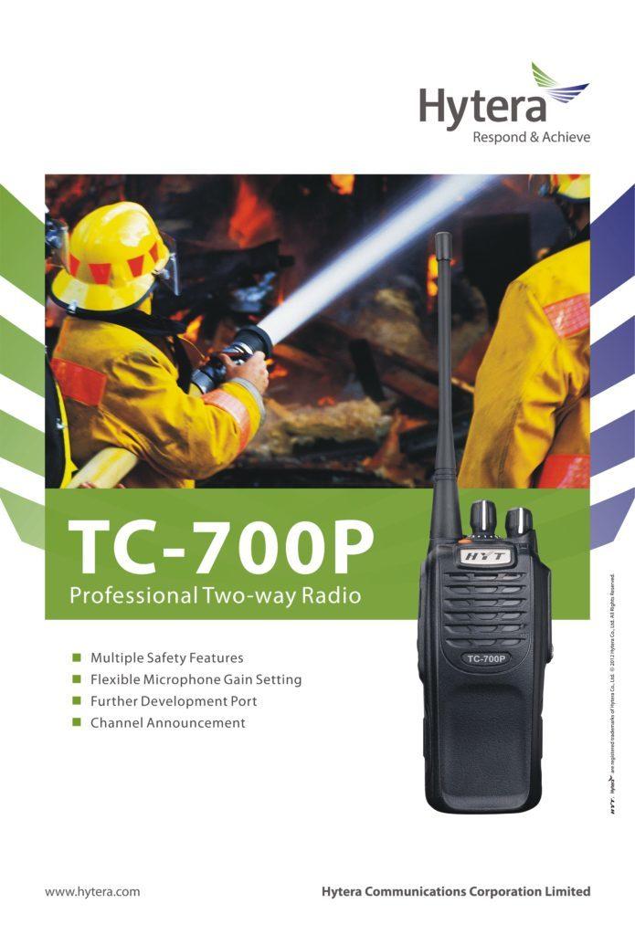 Profesionální radiostanice Hyt TC700P je skutečnou legendou především mezi dobrovolnými hasiči